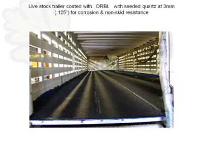 live stock trailer coated